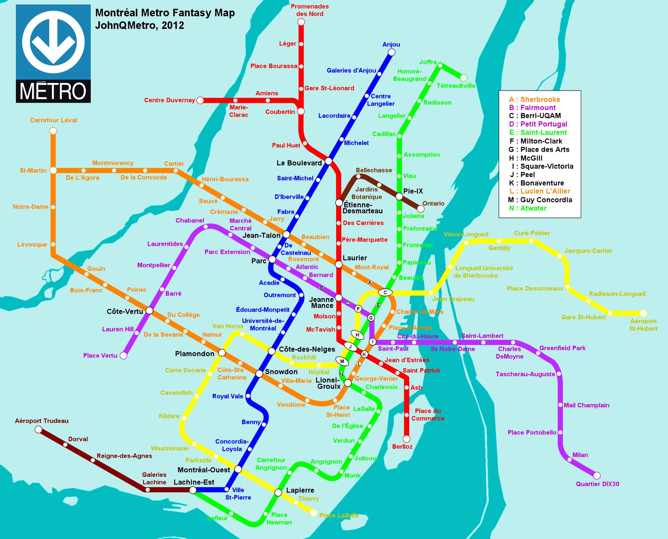 Fantasy Metro Maps